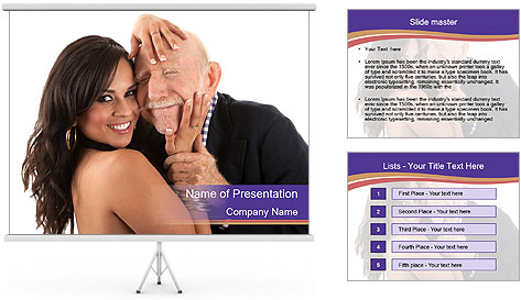 Rich elderly man PowerPoint Template