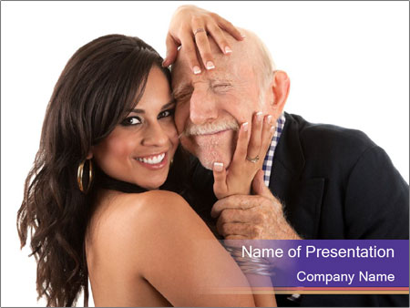 Rich elderly man PowerPoint Templates
