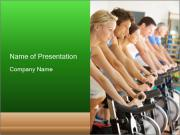 Man Cycling PowerPoint Templates