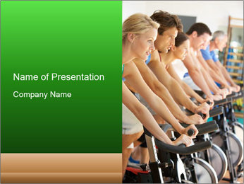 Man Cycling PowerPoint Template - Slide 1
