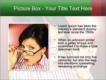 Nerdy office woman PowerPoint Template - Slide 13