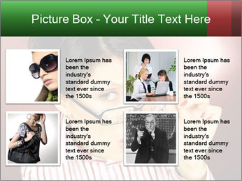 Nerdy office woman PowerPoint Template - Slide 14