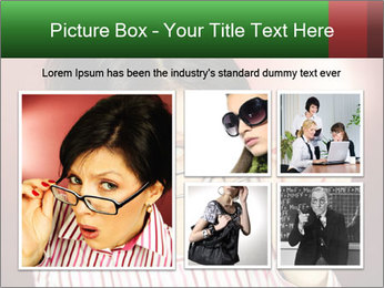 Nerdy office woman PowerPoint Template - Slide 19