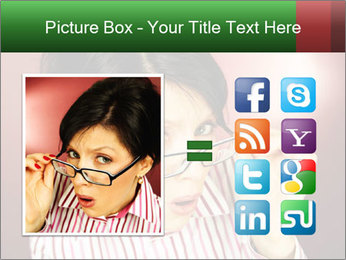 Nerdy office woman PowerPoint Templates - Slide 21