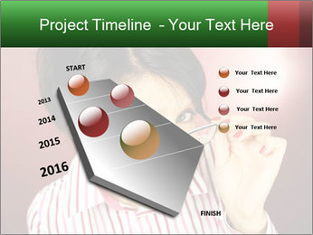 Nerdy office woman PowerPoint Template - Slide 26