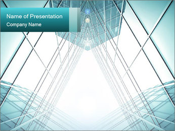 Corridor of glass Modelos de apresentações PowerPoint