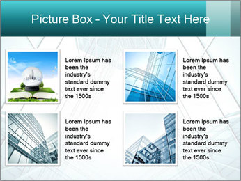 Corridor of glass PowerPoint Template - Slide 14