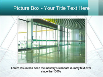 Corridor of glass PowerPoint Template - Slide 16