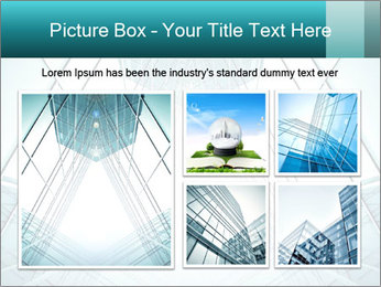 Corridor of glass PowerPoint Template - Slide 19