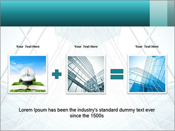 Corridor of glass PowerPoint Template - Slide 22