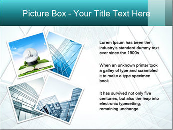 Corridor of glass PowerPoint Template - Slide 23
