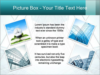Corridor of glass PowerPoint Template - Slide 24