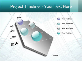 Corridor of glass PowerPoint Templates - Slide 26