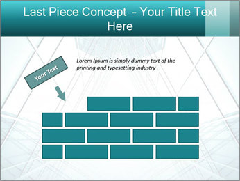 Corridor of glass PowerPoint Template - Slide 46