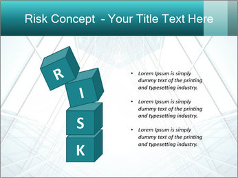 Corridor of glass PowerPoint Template - Slide 81