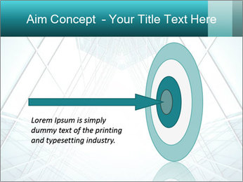 Corridor of glass PowerPoint Template - Slide 83