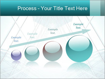 Corridor of glass PowerPoint Template - Slide 87