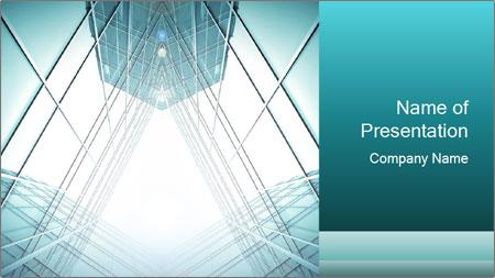 Corridor of glass PowerPoint Template