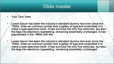 Corridor of glass PowerPoint Template - Slide 2