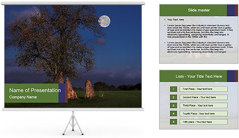 Late evening shot PowerPoint Template