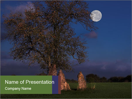 Late evening shot PowerPoint Templates