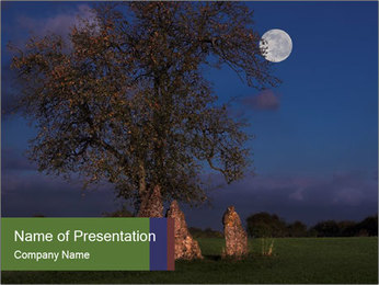 Late evening shot PowerPoint Template - Slide 1