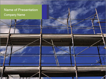 Metal scaffolding PowerPoint Template