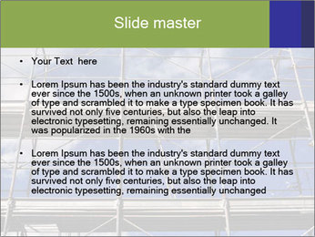 Metal scaffolding PowerPoint Template - Slide 2