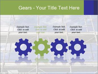 Metal scaffolding PowerPoint Template - Slide 48