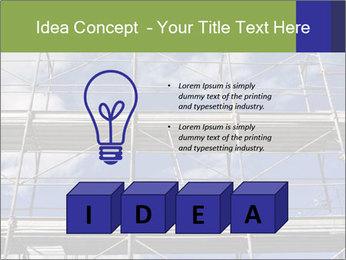Metal scaffolding PowerPoint Template - Slide 80
