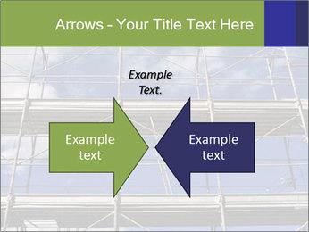 Metal scaffolding PowerPoint Template - Slide 90