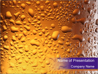 Beer glass. PowerPoint Template - Slide 1