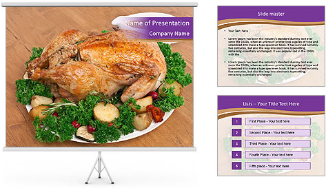 Stuffed chicken PowerPoint Template