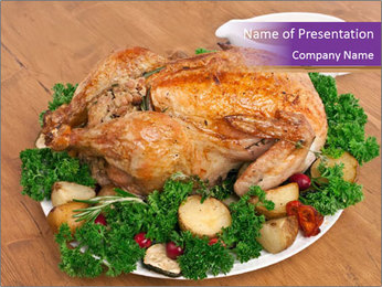 Stuffed chicken PowerPoint Template - Slide 1