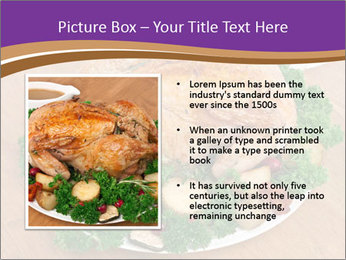 Stuffed chicken PowerPoint Template - Slide 13