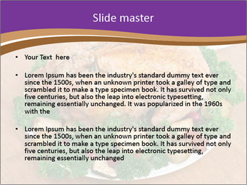 Stuffed chicken PowerPoint Template - Slide 2