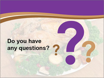 Stuffed chicken PowerPoint Template - Slide 96