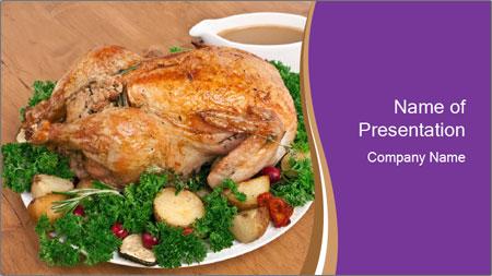Stuffed chicken PowerPoint Template