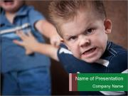 Angry little boy PowerPoint Templates