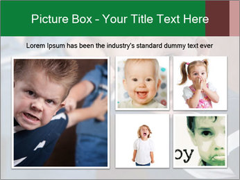 Angry little boy PowerPoint Templates - Slide 19