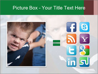 Angry little boy PowerPoint Templates - Slide 21