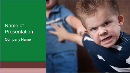 Angry little boy PowerPoint Template
