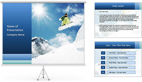 A snowboarder's PowerPoint Template