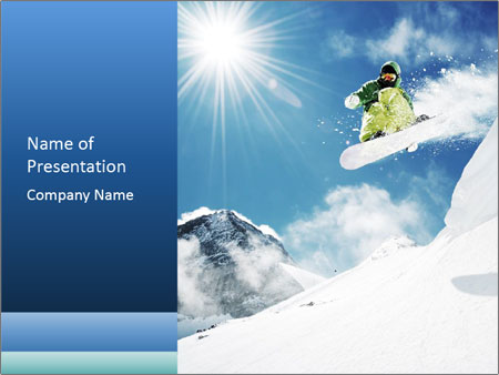 A snowboarder's PowerPoint Templates