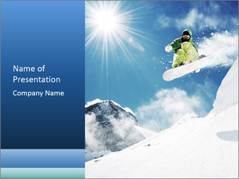 A snowboarder's PowerPoint Template - Slide 1