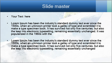 A snowboarder's PowerPoint Template - Slide 2