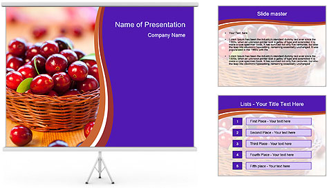 Fresh red PowerPoint Template