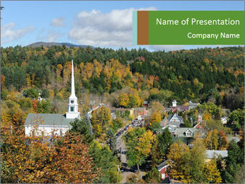 Vermont PowerPoint Template - Slide 1