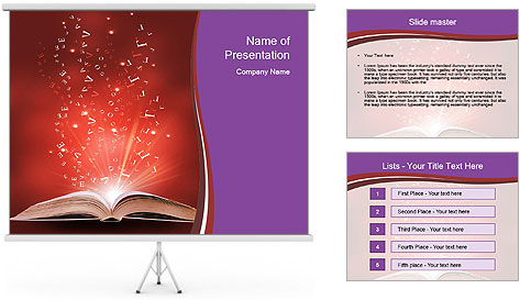Magic book PowerPoint Template