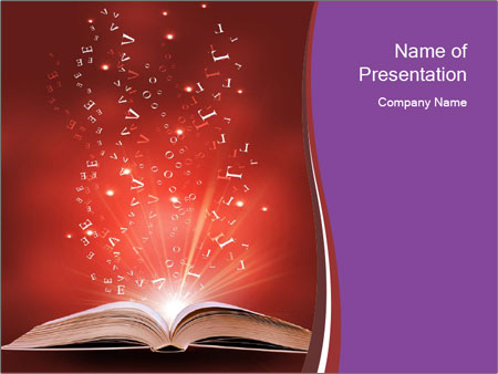Magic book PowerPoint Templates
